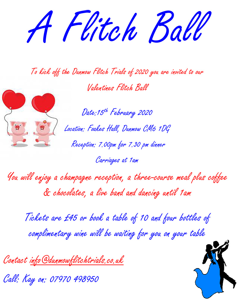 Flitch Ball on 15th February 2020